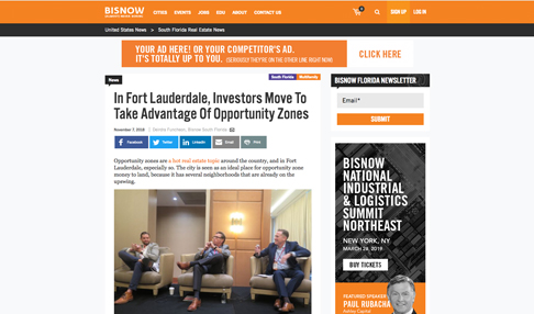 In Fort Lauderdale, Investors Move To Take Advantage Of Opportunity Zones