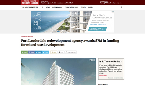 Fort Lauderdale Redevelopment Agency Awards $7M in Funding for Mixed-Use Development