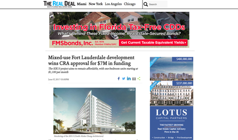 Mixed-Use Fort Lauderdale Development Wins CRA Approval for $7M in Funding