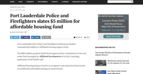 Fort Lauderdale Police and Firefighters slates $5 million for affordable housing fund