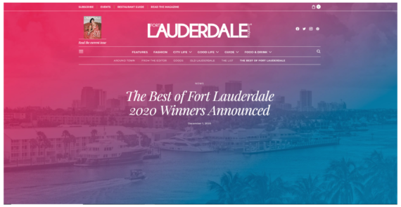 The SIX13 Apartments named Runner Up in The Best of Fort Lauderdale
