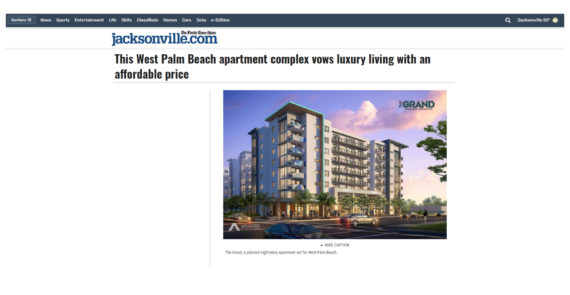 This West Palm Beach apartment complex vows luxury living with an affordable price