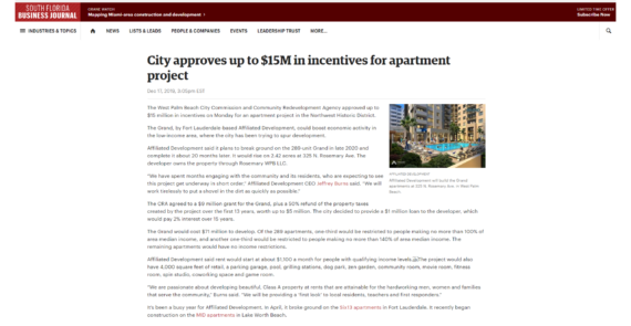 City approves up to $15M in incentives for apartment project