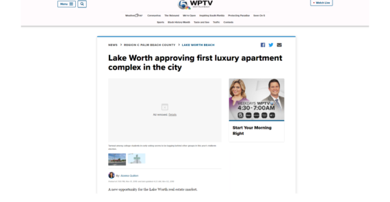 Lake Worth approving first luxury apartment complex in the city